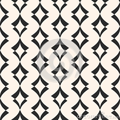 Free Art Deco Seamless Pattern. Geometric Texture With Curved Shapes. Stock Photography - 102954872