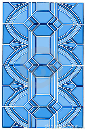 Art deco stain glass design