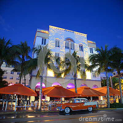 Art Deco Style Edison in Miami Beach Editorial Photo