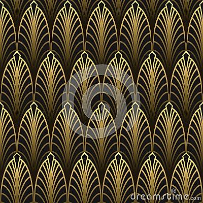 Free Art Deco Style Seamless Pattern Stock Photography - 103044462