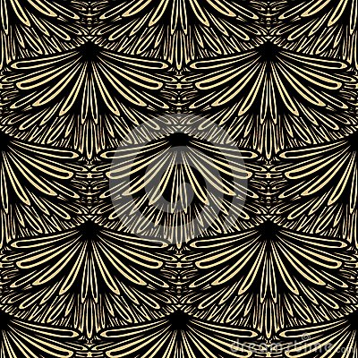 Free Art Deco Vector Floral Pattern Stock Photo - 36183540