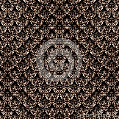 Free Art Deco Vector Geometric Pattern In Brown Color Stock Image - 36184061