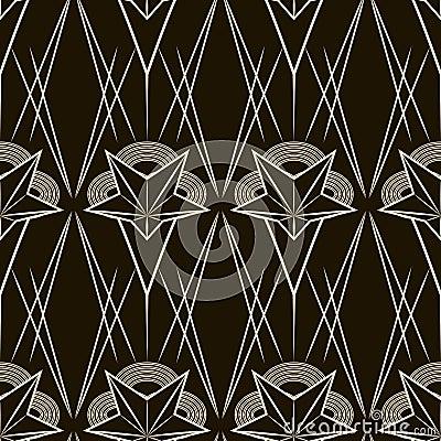 Art Deco Vector Geometric Pattern Seamless Texture