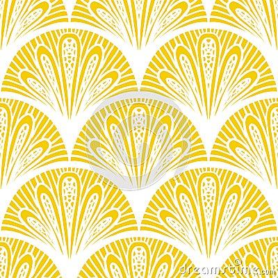 Art deco vector geometrisch patroon in heldere geel stock foto beeld 36184230 - Deco van de gang ...
