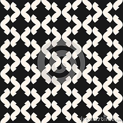 Free Art Deco Vector Seamless Pattern. Monochrome Geometric Texture. Royalty Free Stock Photography - 102711717