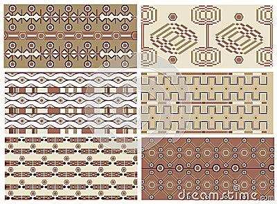 Art deco vector textures