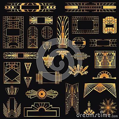 Free Art Deco Vintage Frames Royalty Free Stock Photo - 39309605