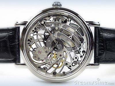 Art Deco Watch - Skeleton Movement