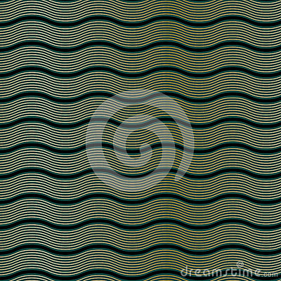 Art Deco Wave Pattern