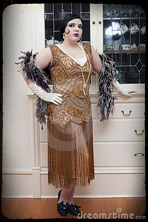 Free Art Deco Woman Royalty Free Stock Image - 19097096