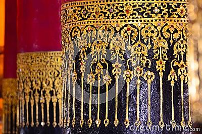 Art detail, Wat Prathat Changkam, Nan Province Thailand