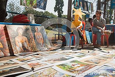 Art fair Editorial Stock Image
