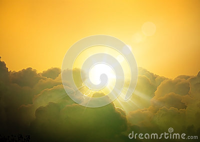 Art fantasy cloudscape background