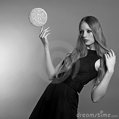 Art fashion photo of a woman
