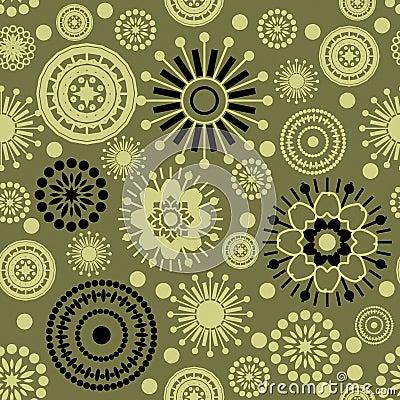 Vintage Flower Pattern Background Vector Art :: Vector Open Stock