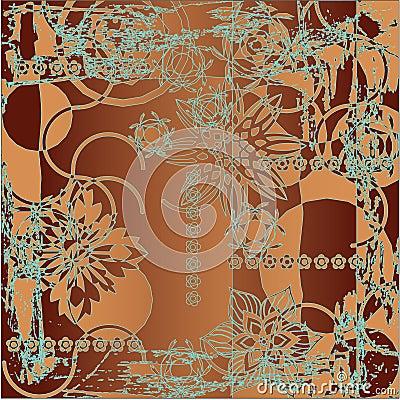 Art floral pattern