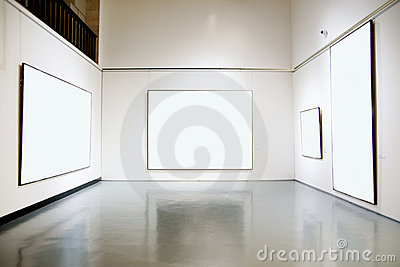 Art gallery exhibition hall