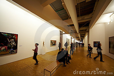 Art gallery at Pompidou centre Editorial Stock Image