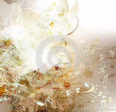 Free Art Grunge Background On Music Theme Royalty Free Stock Photos - 30682738
