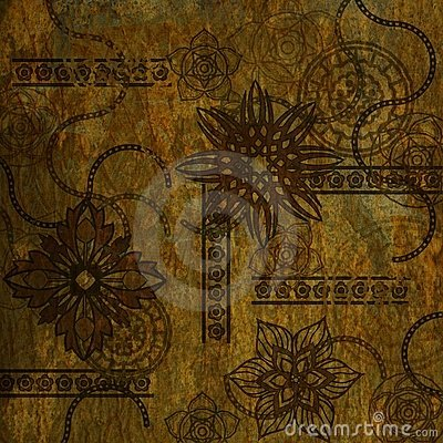 Art grunge floral background