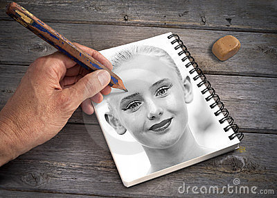 Art Hand Drawing Portrait Girl