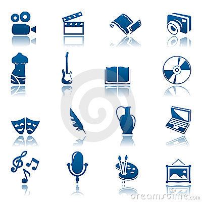 Free Art & Hobby Icon Set Royalty Free Stock Photos - 13716378