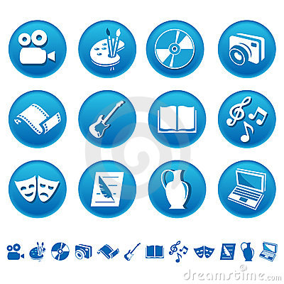 Free Art & Hobby Icons Royalty Free Stock Photography - 7993347