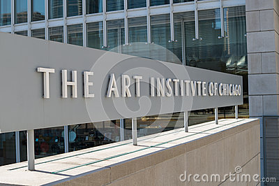 Art Institute of Chicago Editorial Stock Photo