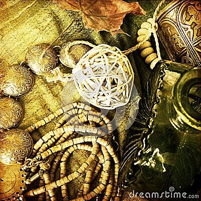Art jewelry fashion background