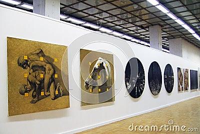 Art Moscow 2013 international art fair Editorial Photography