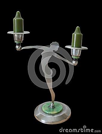 Art nouveau antique candlestick