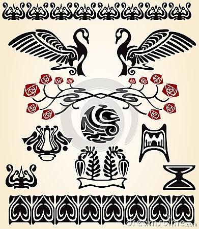 Art nouveau bird