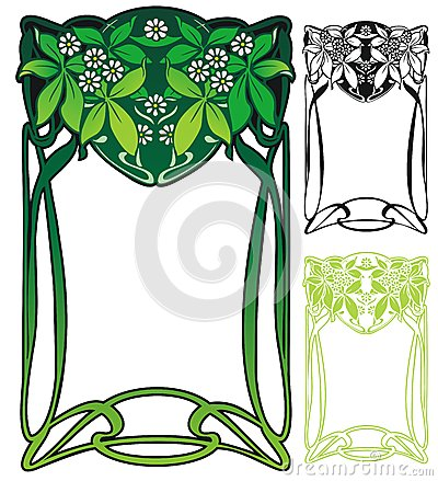 Free Art Nouveau Border Stock Photography - 37458412