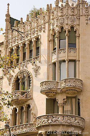Free Art Nouveau Building Royalty Free Stock Photography - 7896297