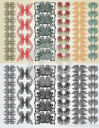 Art nouveau colection pattern