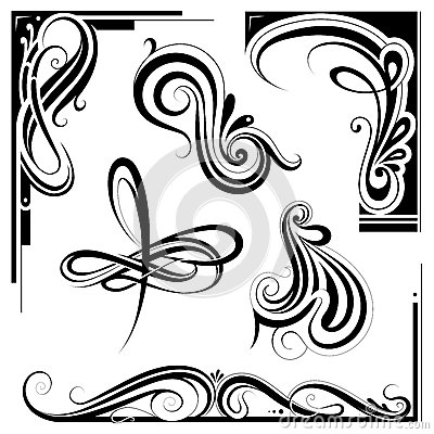 nouveau design elements stock vector image 73203316