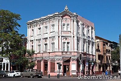 Art Nouveau Facade in Santiago do Chile Editorial Stock Photo