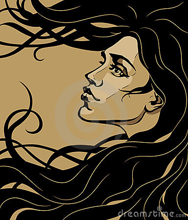 Free Art Nouveau Girl Stock Images - 2938424