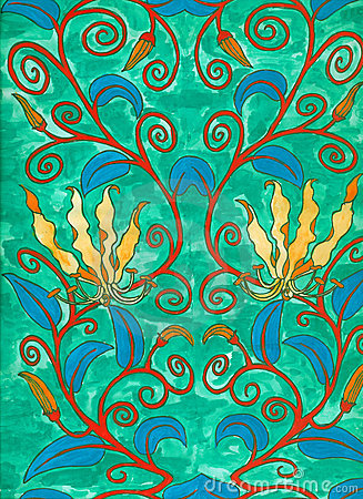 Free Art Nouveau Painting Stock Photography - 709872