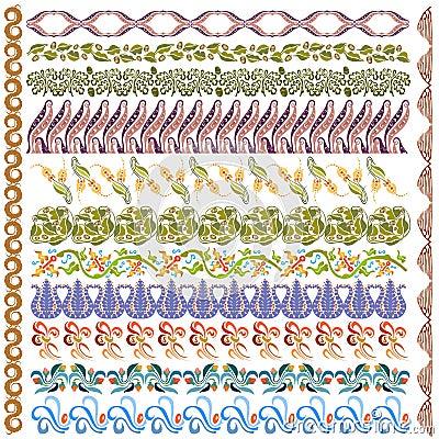 Art nouveau pattern edge element