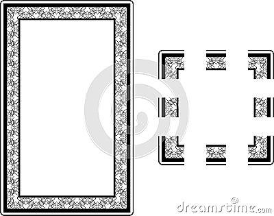 Art Nouveau Style border frame