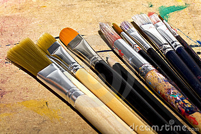 Art paint brushes