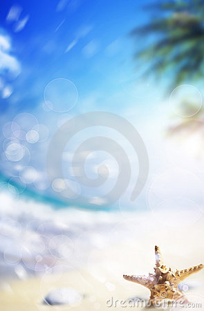 Free Art Paradise Beach Background Stock Photography - 19549362