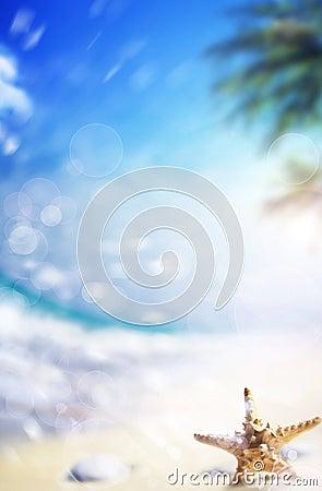 Free Art Paradise Beach Background Stock Photography - 19549362