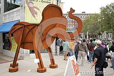 Art Prize 2010 Walking Elephants Editorial Stock Photo