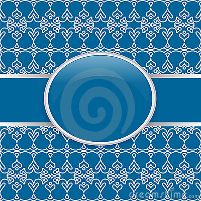 Art retro blue ornate cover