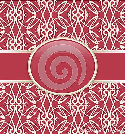 Art retro red ornate cover