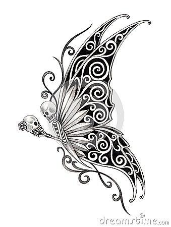 Art skull fairy tattoo stock illustration image 62328478 for Skull fairy tattoos