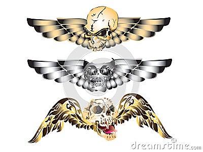 Art skull pattern tattoo