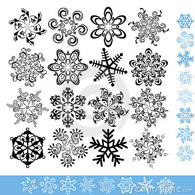 Art snowflakes set